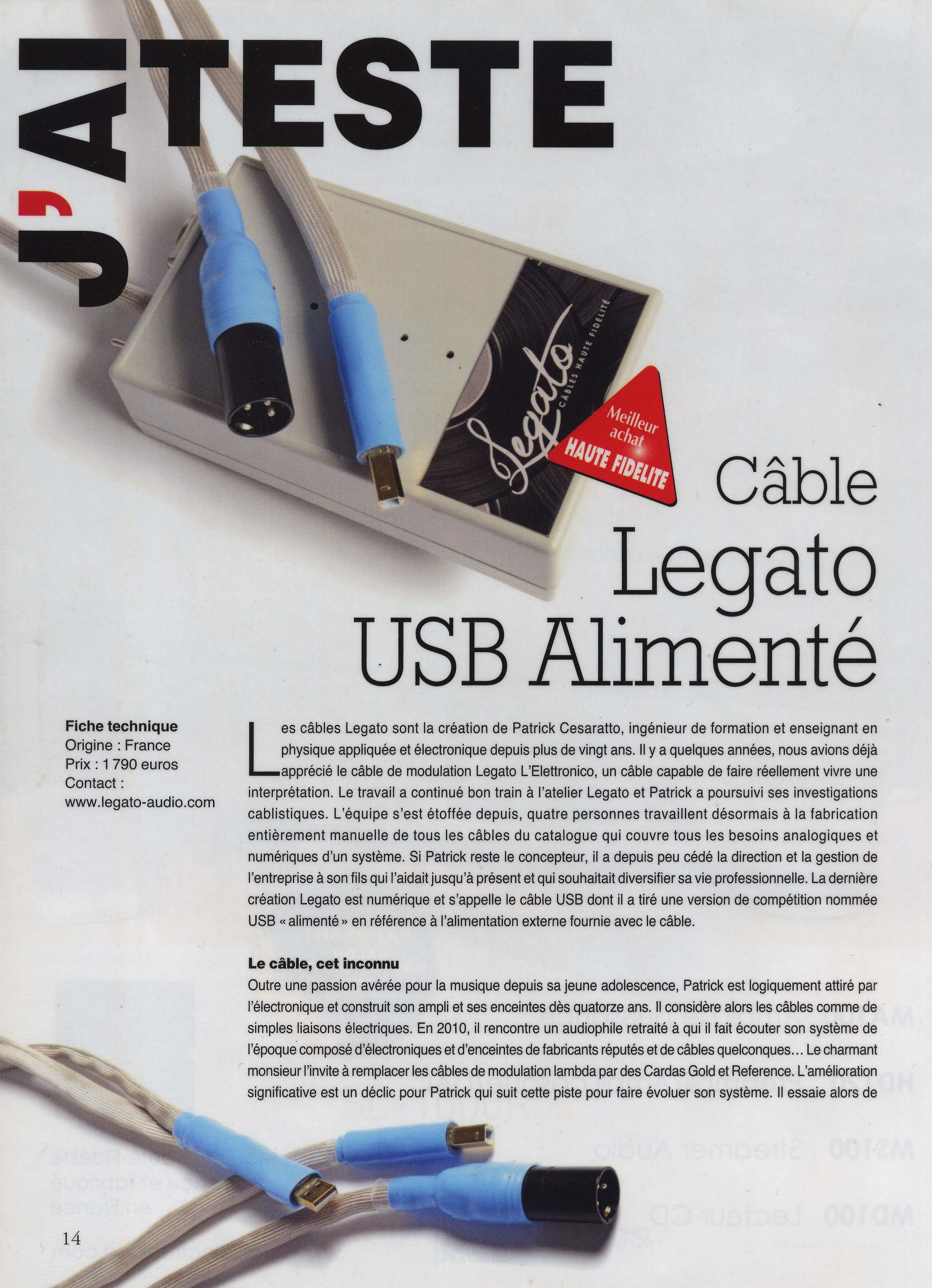 article USB alimenté
